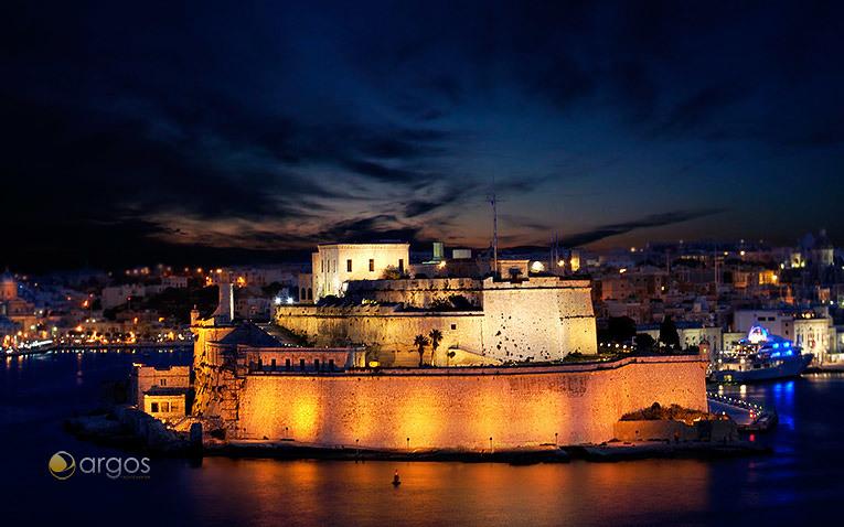 Fort St. Angelo - große Festung in Vittoriosa, im Zentrum des Grand Harbour von Valetta