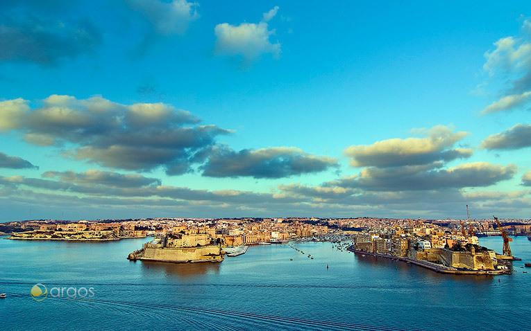Grand Harbour von Valetta auf Malta