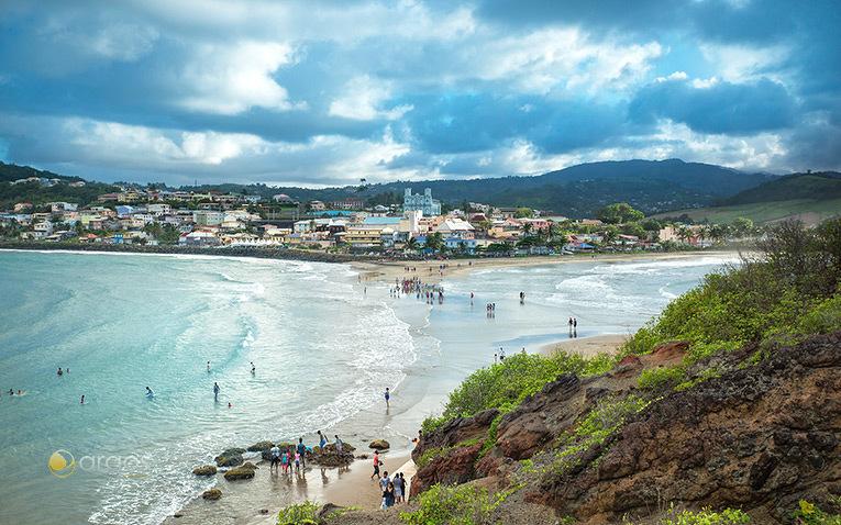 Le tombolo de Sainte-Marie im Nordosten von Martinique