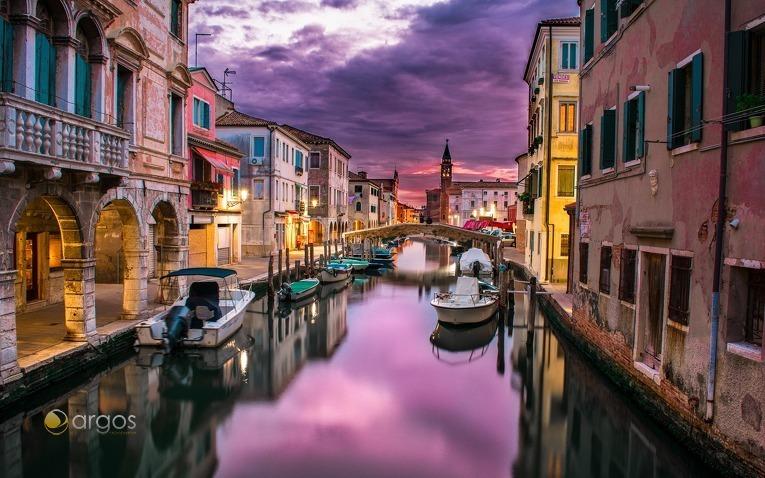 Lagune von Venedig im Abendlicht