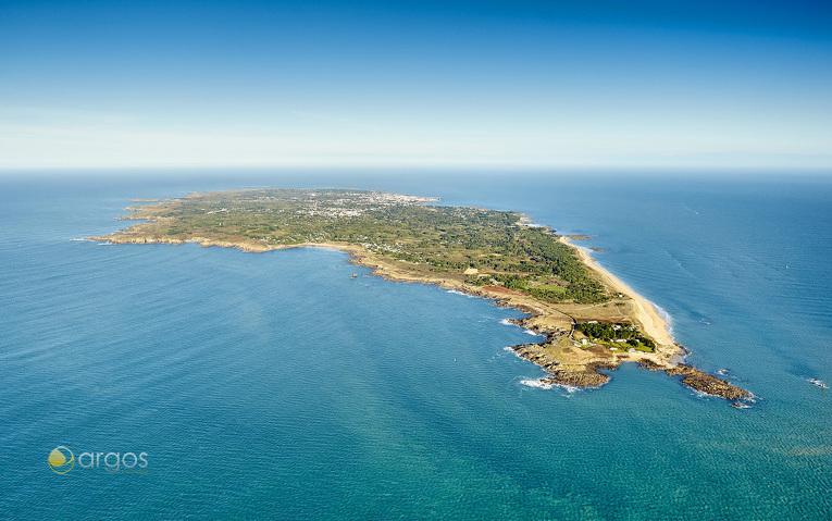 Île d'Yeu aus der Luft