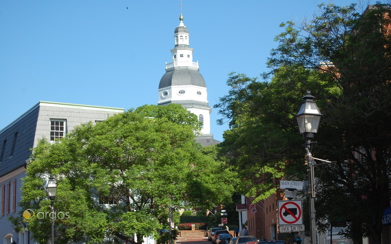 Maryland State House in Annapolis, Chesapeake Bay - Maryland