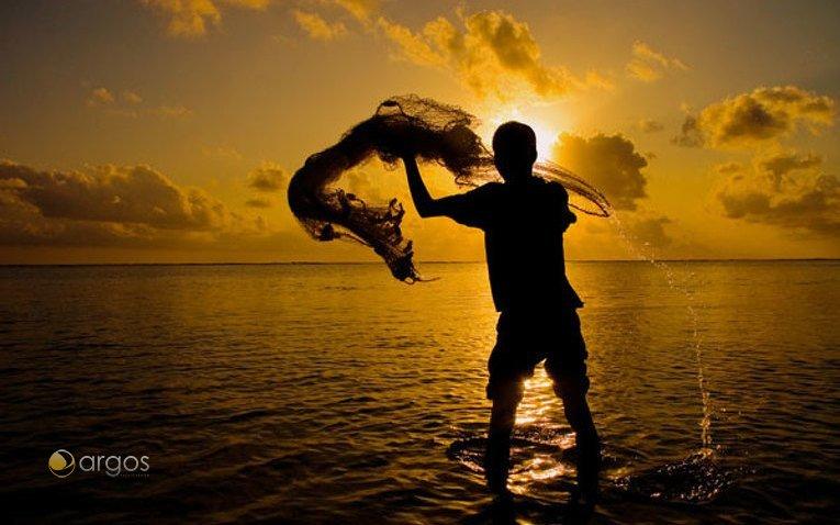 Fischer auf den Malediven