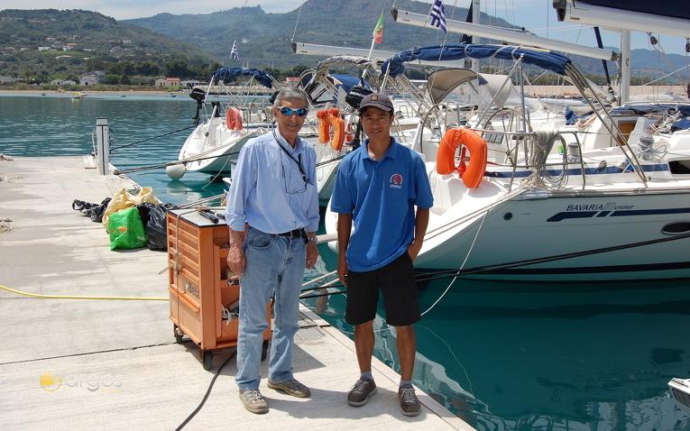 Kiriacoulis Stützpunkt Crew in Sant Agata
