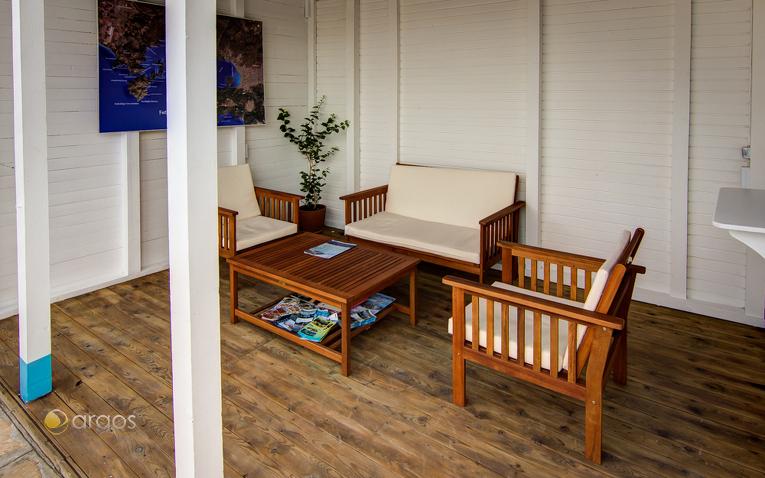 Gemütliche Sitzecke in der Club Marina