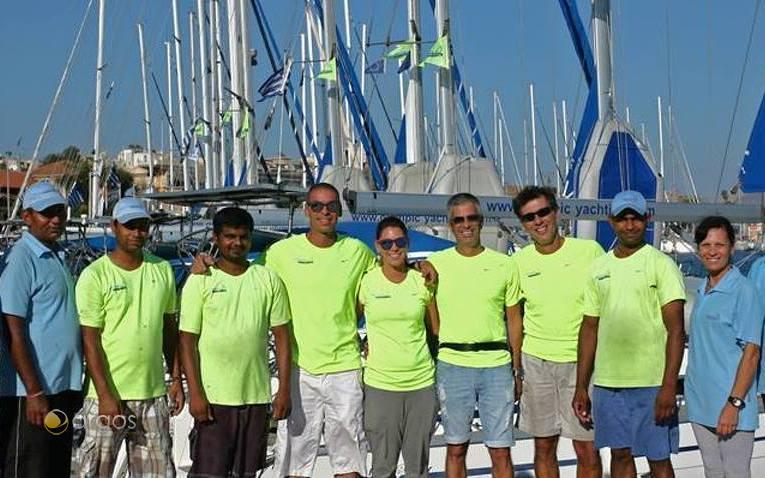 Das Team von Olympic Yachting in Griechenland