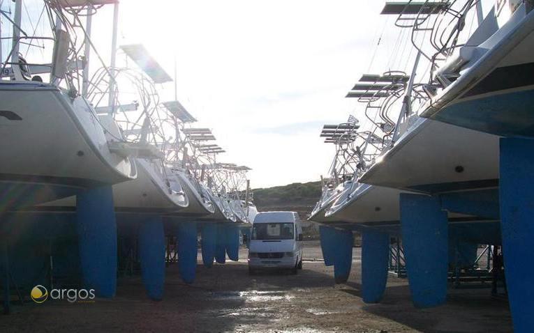Die Werft von Olympic Yachting in Griechenland