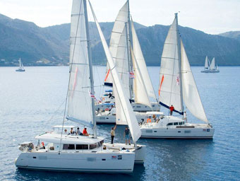 Yachten beim Catamarans Cup in Griechenland © Istion Yachting