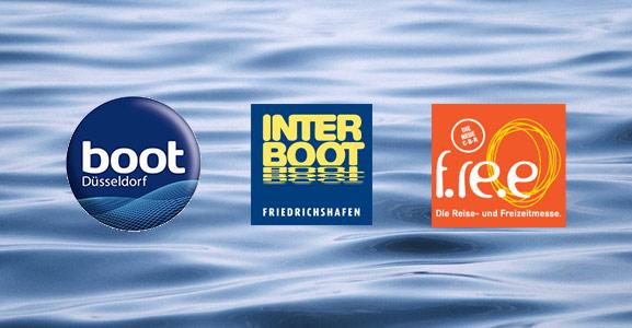 Logos der Bootsmessen © Messeveranstalter