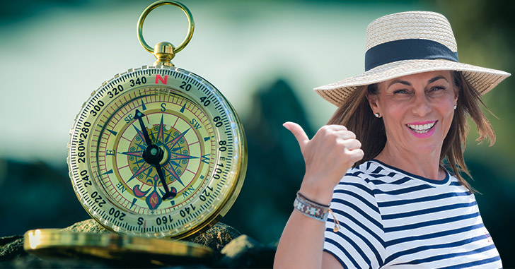 Junges Model mit Beratungskompass © Andrew Williamson / kreativloft GmbH