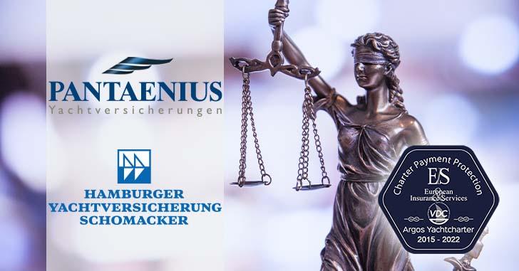 Pantaenius-Anträge und VDC-Siegel © Argos Yachtcharter