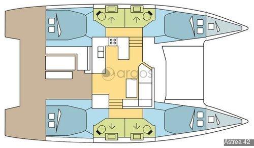 1 Astrea 42  Verfügbar in Griechenland, Kroatien, Frankreich, Bahamas, British Virgin Islands, Lee & Windward Islands und USA Ostküste.