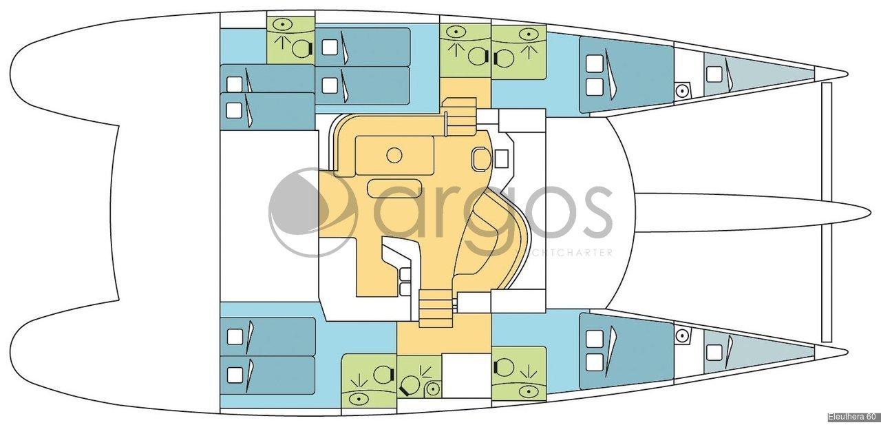 eleuthera 60 katamaran zu chartern in kroatien id 2965 argos yachtcharter segeln aus. Black Bedroom Furniture Sets. Home Design Ideas