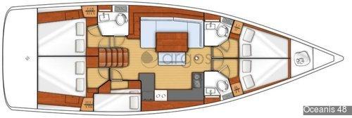 1 Oceanis 48  Verfügbar in Griechenland, Kroatien, Montenegro, Italien, Frankreich, Malta, Balearen, Lee & Windward Islands, Kanaren und Thailand.